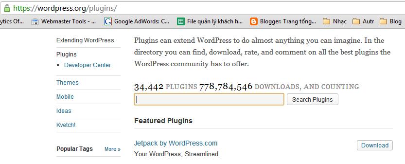 co ban ve plugin wordpress