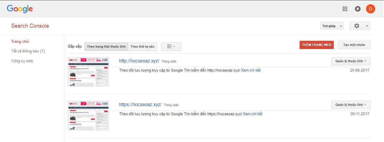 khai bao sitemap voi google