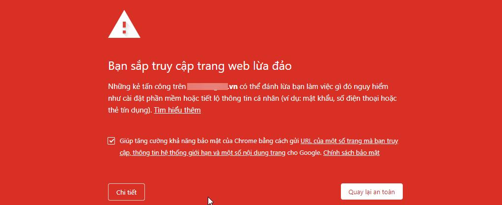 lam sao khi google canh bao nguy hiem 1
